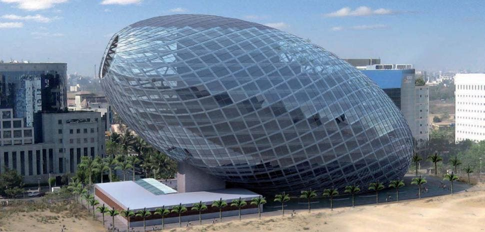 Cybertecture Egg Office Building, Индия